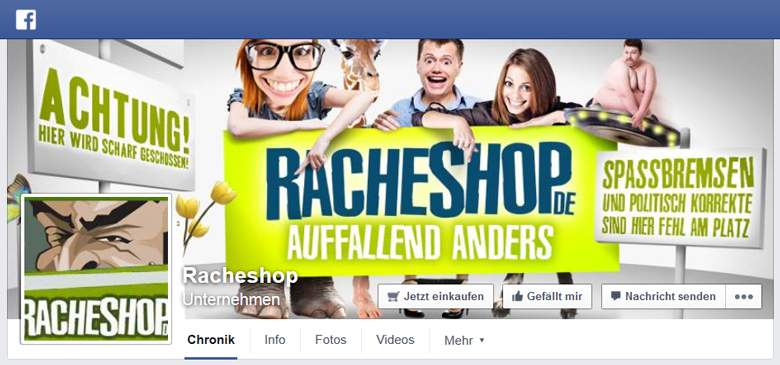 Racheshop bei Facebook