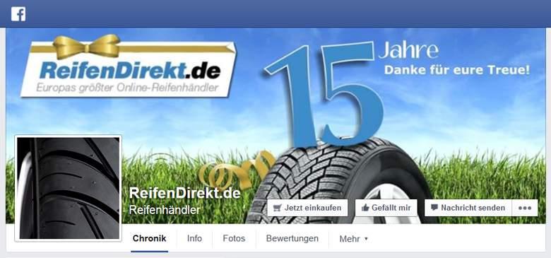 ReifenDirekt bei Facebook