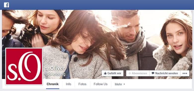 s.Oliver bei Facebook