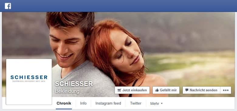 Schiesser bei Facebook