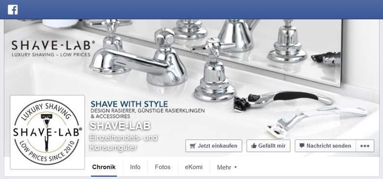 Shave-Lab bei Facebook