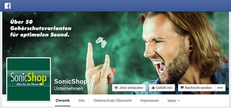 SonicShop bei Facebook