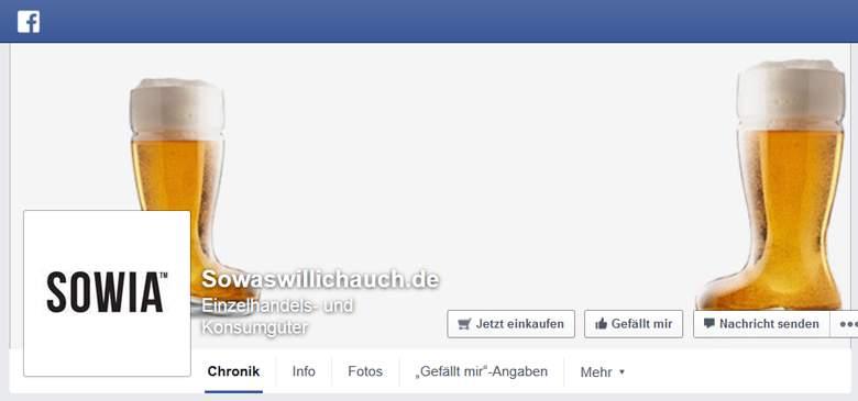 SOWAS WILL ICH AUCH bei Facebook