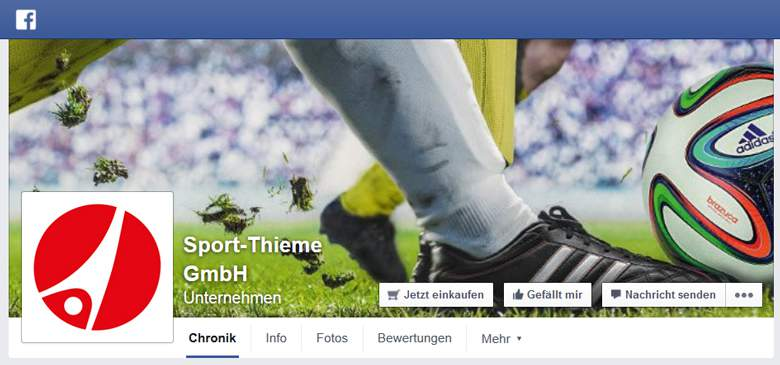 Sport-Thieme bei Facebook