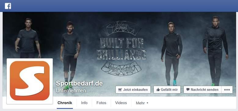 Sportbedarf bei Facebook
