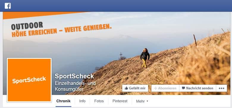 SportScheck bei Facebook