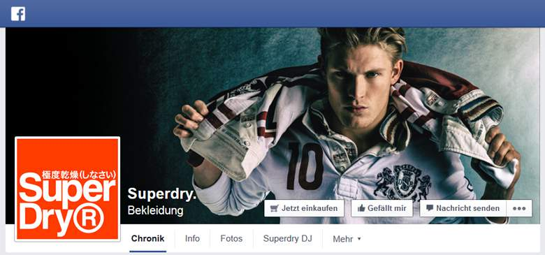 Superdry bei Facebook