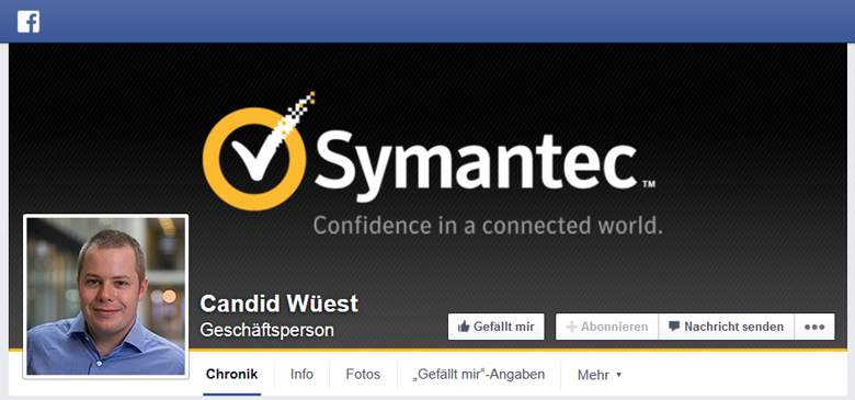 Symantec bei Facebook