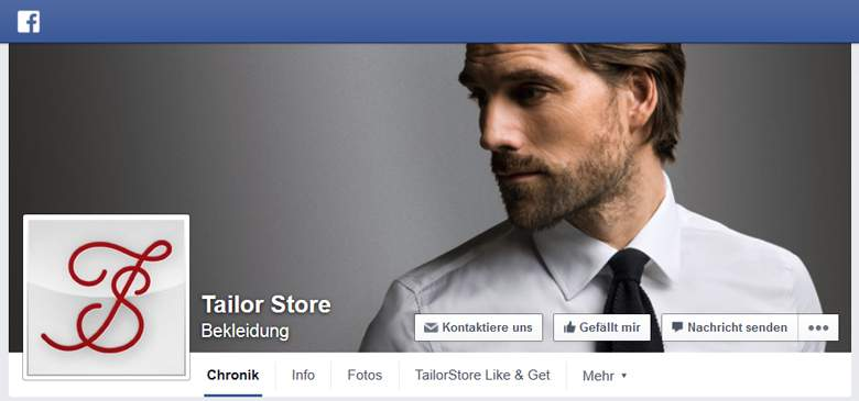 TailorStore bei Facebook