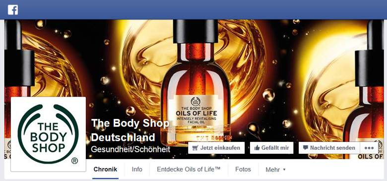 The Body Shop bei Facebook