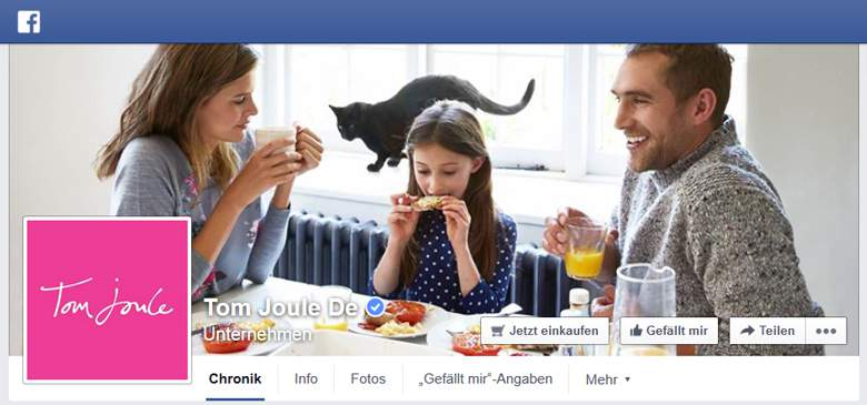 Tom Joule bei Facebook