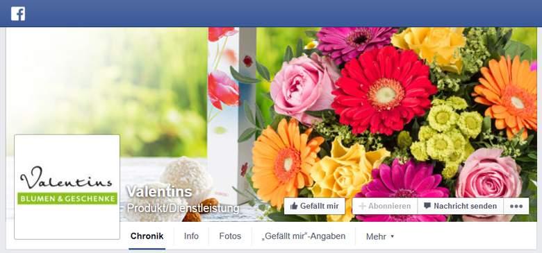 Valentins bei Facebook