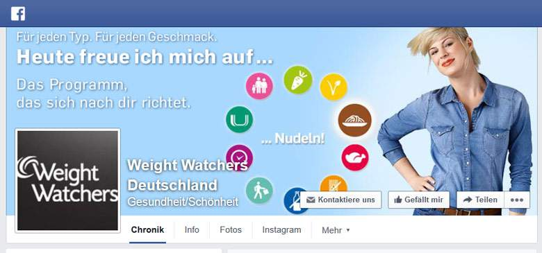 Weight Watchers bei Facebook