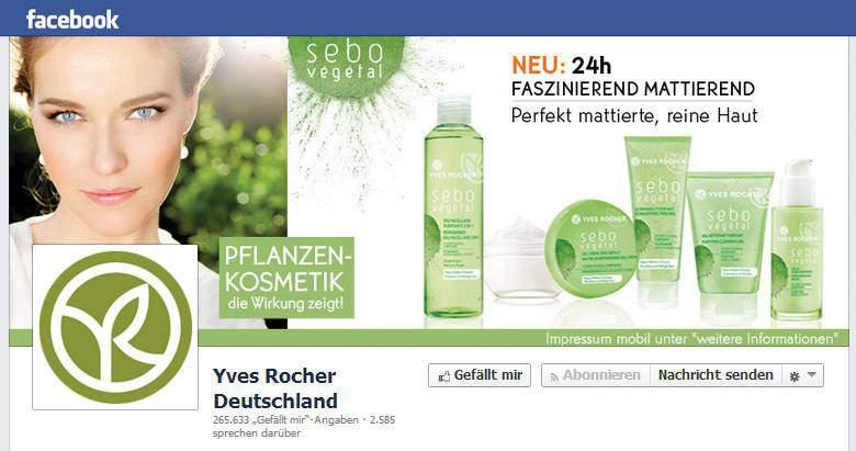 Yves Rocher bei Facebook